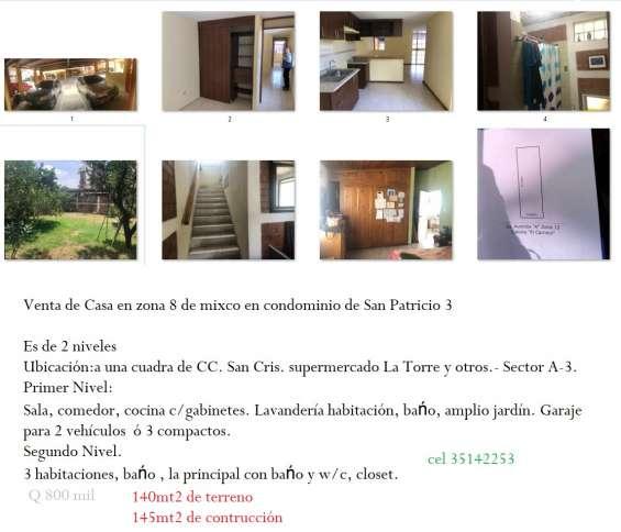 Se encuentra en venta de casas y terreno en san cristobal zona 8 de mixco